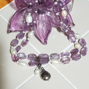 Jewelry - Big Bold Amethyst Pearl Necklace